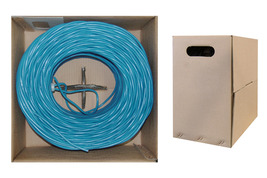 Bulk Cat5e Blue Ethernet Cable, UTP (Unshielded Twisted Pair), Pullbox, ... - $180.49