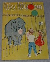 Wee Wisdom July 1954 Children's Magazine Circus - $6.00