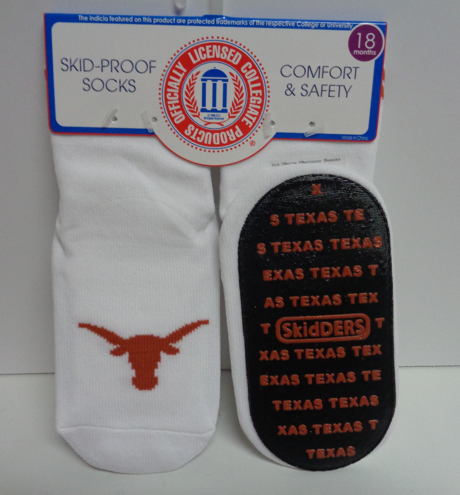 Skidders Toddlers No Skid Texas Long Horn Socks NWT Sz 18 Months