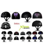 Daytona Skull Cap Helmet Slim Line Motorcycle Shorty Half Graphics DOT - XS-2XL - $68.06 - $77.36