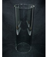 Glass Cylinder Tube 6 X 16 in Light Lamp Shade Candle Holder Marvy Barbe... - $94.95