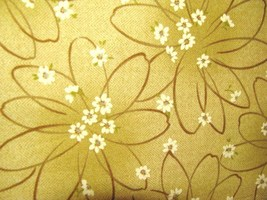 Daiwabo  Selection   11082  Small White Flowers on Brown Flowers  Cotton... - $7.95