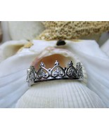 Sterling Silver and CZ  Eternity Tiara Crown Ring  Size 9 - $20.00
