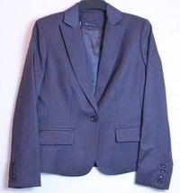Anne Klein Stretch Blue 1 Button Dress Jacket Size 6 - $29.69