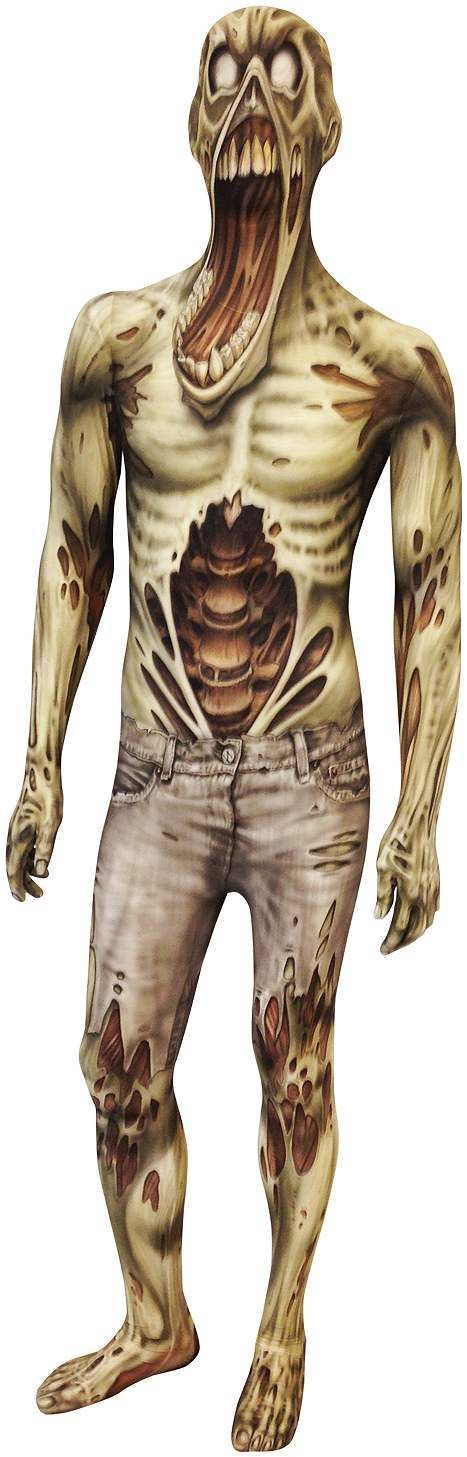 Adult Walker Zombie Halloween Morphsuit Costume 2XL