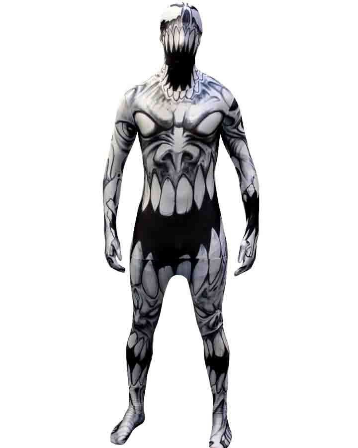 Adult Mad Mouth Halloween Morphsuit Costume Large