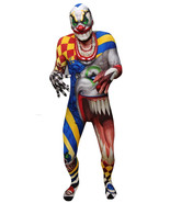 Adult Creepy Clown Halloween Morphsuit Costume ... - $98.99