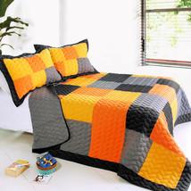 [Mild Winter] 3PC Patchwork Quilt Set (Full/Queen Size) - $105.99