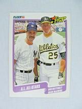 Don Mattingly Mark McGwire All Stars 1990 Fleer Baseball Card Number 638 - $0.98