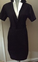 $950 DONNA KARAN black label collection soft viscose linen  spandex skirt 10 - $203.86
