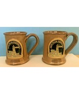 DENEEN POTTERY SAND GLAZE STRAIGHT MUGS (2) SPLIT ROCK LIGHT HOUSE LAKE ... - $34.95