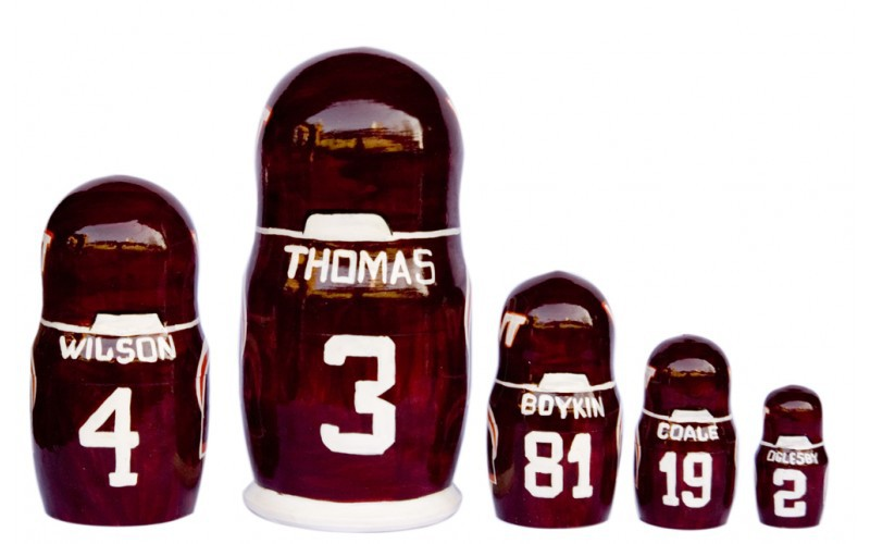 "Virginia Tech Hokies matryoshka nesting dolls babushka doll 5pc, 6"" image 2"