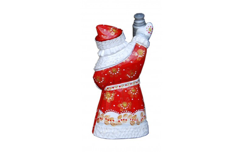 Wooden carved doll Santa Claus Detroit Red Wings, 6 inches image 2