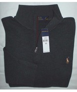 Polo Ralph Lauren Half Zip NWT Suede Mock Neck ... - $69.25