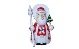 Wooden carved doll little doll Sport Santa Claus Nebraska Cornhuskers, 3... - $49.90