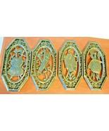 "Vintage Set of 4 Burwood Large 14"" Wall Hanging Decor Viking Hat Shield ... - $39.60"