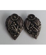 VINTAGE STERLING SILVER EARRINGS SIGNED V B and ? - $25.73