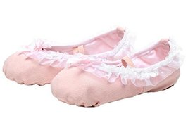 Dance Class Ballet Shoes/Canva Dance Shoes For Pretty Girl (21.5CM Length) Pink
