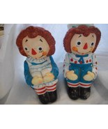 Ceramic Raggedy Ann & Raggedy Andy Book Ends - $38.00