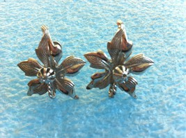 VINTAGE STERLING SILVER SIGNED AMCO SCREW BACK EARRINGS - $20.78