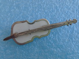 LARGE TAXCO MEXICO STERLING SILVER CELLO PIN WHITE ONYX? SIGNED 925 - $25.73