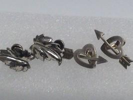 2 Vintage Danecraft Sterling Silver Screw Back Earrings Lot - $25.73