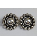VINTAGE STERLING SILVER MEXICO CLIP BACK EARRINGS 925 - $31.18