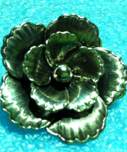 VINTAGE STERLING SILVER BEAU PIN BROOCH FLOWER SIGNED - $29.69