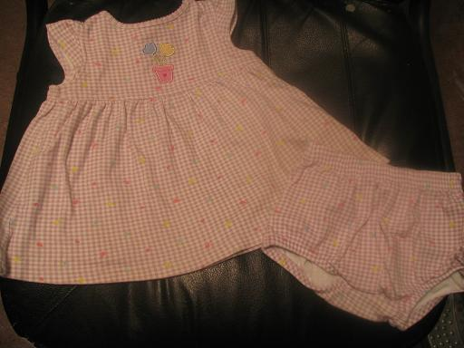 Child of Mine by Carter dress with diaper cover 12 months