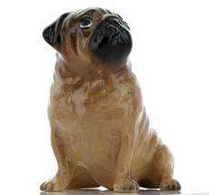 Hagen Renaker Pedigree Dog Pug Large Tan Ceramic Figurine