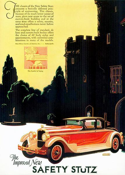 Primary image for 1927 Stutz - The Improved New Safety Stutz - Promotional Advertising Poster