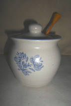 Pfaltzgraff-Yorktowne--Jam-Jelly-Honey-Pot-Jar- Lid-Plastic Dipper - $7.00