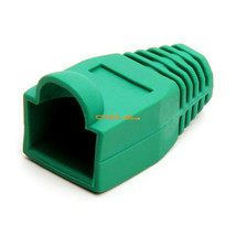 Cmple RJ-45 Color Coded Strain Relief Boots - GREEN (50pcs) - 1081-365-N - $9.13
