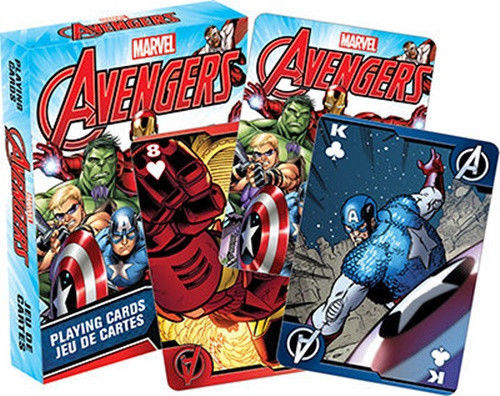 Marvel Comics The Avengers Playing Cards Regular Deck, NEW SEALED
