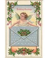 Birthday Greetings Vintage 1911 Cherub Post Card  - $7.00