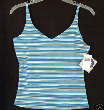 new $20 PLANET SLEEP Cami Camisole stripe Small LIMBO