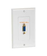 Cmple VGA 15pin Female Wall Plate (Gold Plated) - 1081-999-N - $10.87