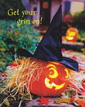 "Greeting Halloween Card ""Get Your Grin On!"" - $1.50"