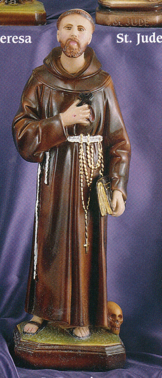 St. francis of assisi 16 iinch statue