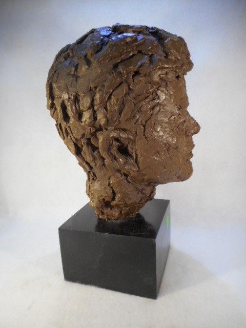 "John F Kennedy Bust Head Vintage 12"" Tall Rare"