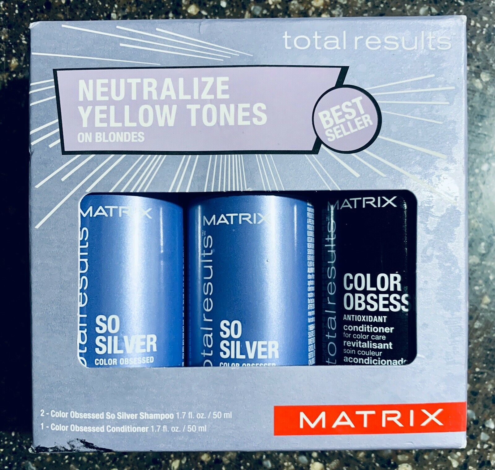 Primary image for Matrix Total Results Neutralize Yellow Tones on Blondes Sample Trio New In Box