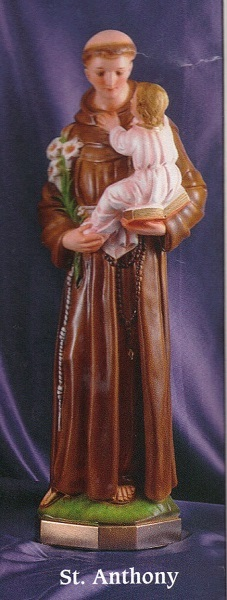 St. anthony 24 inch statue
