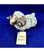 Vintage Ram Sheep Woolly Spaghetti Handcrafted Jasper Pottery Edwards Au... - $34.65