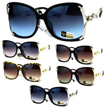 Womens Rhinestone Jewel Metal Arm Exposed Lens Butterfly Sunglasses - $12.95