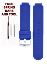 Compatible Lacoste 2020072 14x20mm Blue Rubber Watch Strap LCS107 - $28.71