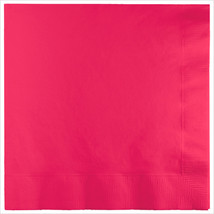 3 Ply 1/4 Fold Dinner Napkins Hot Magenta/Case of 250 - £30.84 GBP