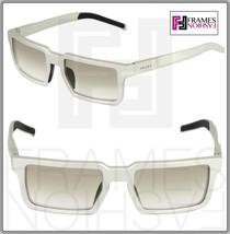 Prada 50S Technique Square Silver Brushed Aluminum Sunglasses Unisex PR50SS - $261.95