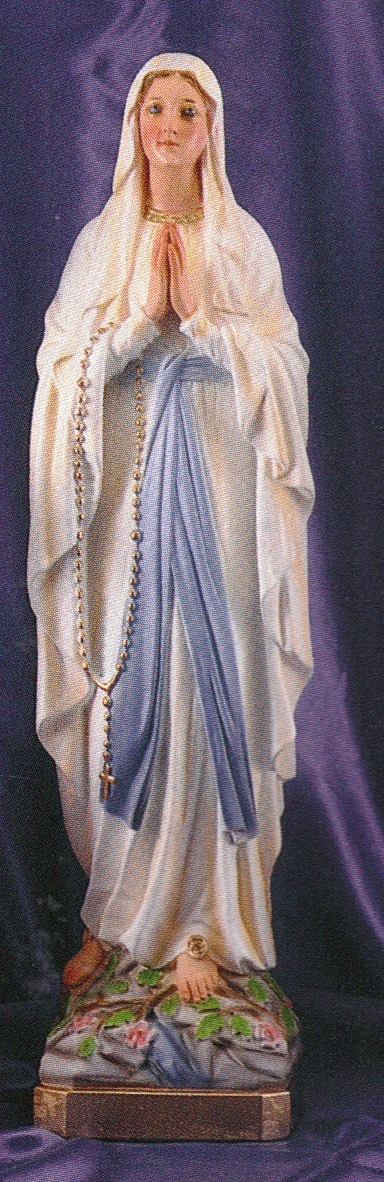 Our lady of lourdes 24 inch statue