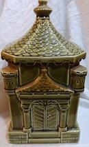 Vtg Royal Sealy Japan Cookie jar castle green - $63.65