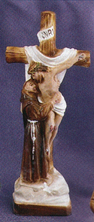 Vision of st. francis 8 inch statue